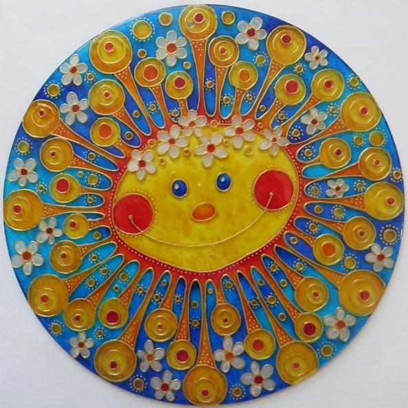 Jak se prázdné sklíčko mění na Sluníčko :o)